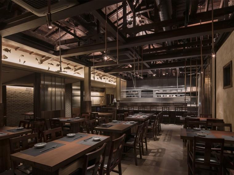 韩国木结构餐厅