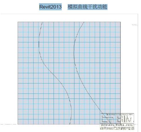 Revit2013模拟曲线干扰功能