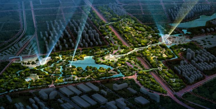 [湖北]武汉园博会景观规划设计方案文本-[湖北]武汉园博会景观规划设计文本 A-8鸟瞰图