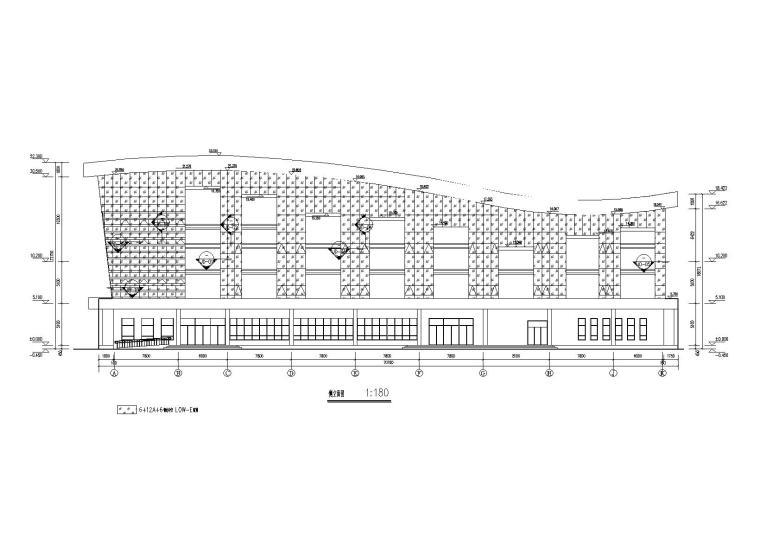 [山东]高中餐厅项目玻璃幕墙施工图(含计算书,2016)