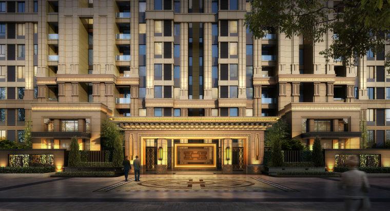 [湖北]武汉中建光谷之星高层+洋房中式建筑模型设计