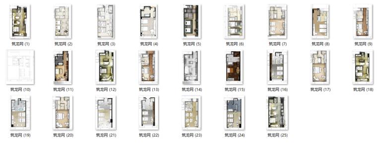 酒店标准间户型设计30种思路(30个方案图)