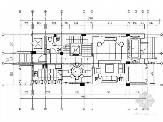 [湖北]精品高档简欧风格三层别墅室内装修施工图