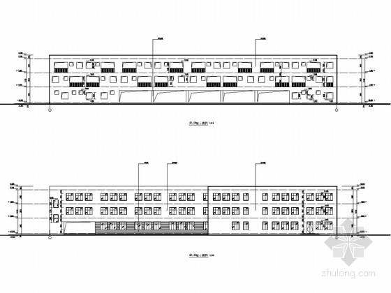 [温州]三层框架结构小学教学楼结构施工图(含建筑施工图)