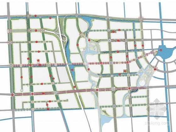 [江苏]都市核心区道路景观绿化概念设计方案