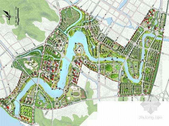 """[福建]""""长山乐水""""绿色滨河公园景观规划设计方案"""