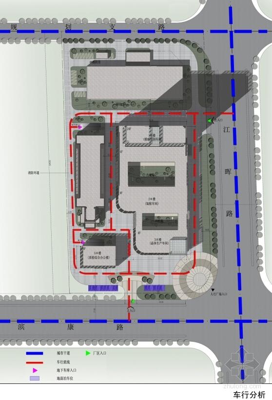 [浙江]电子晶体立面新建厂房建筑设计方案文本-电子晶体立面新建厂房建筑设计分析图