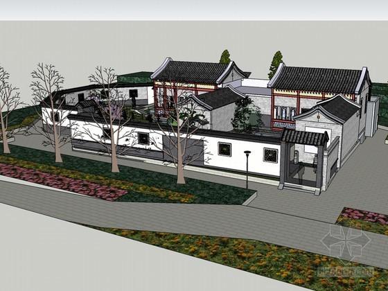 徽派建筑SketchUp模型下载