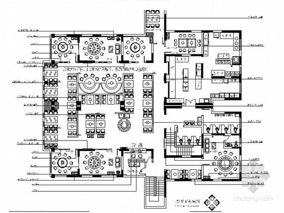 [福建]星级现代风格自助火锅店室内装修施工图(含效果)