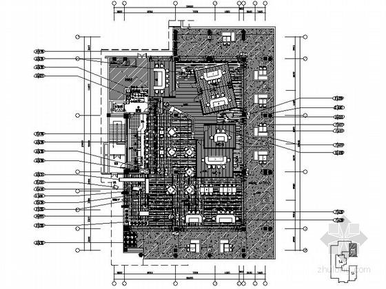 [三亚]全球连锁度假酒店高档铁板烧装修施工图(含效果)