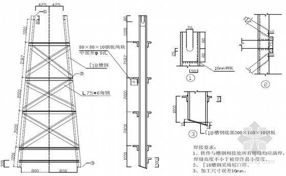 [湖北]热电厂冷却塔人字柱吊装施工方案