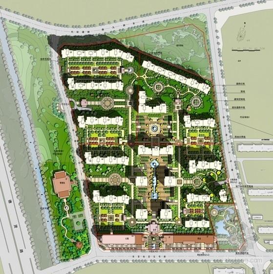 Artdeco风格高端住宅区规划总平面图