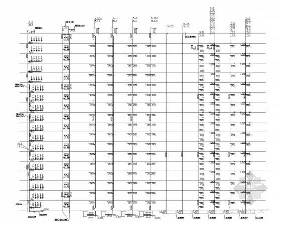 [四川]34万平超高层综合体给排水消防施工图(七氟丙烷气体灭火冷凝水循环系统)-给水排水系统展开图