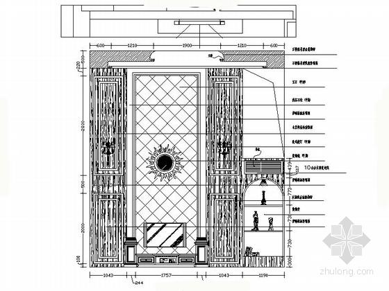 温馨简欧三层别墅起居室设计装修立面图
