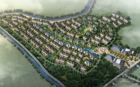 [湖北]简欧风格别墅区规划及单体设计方案文本(含CAD)