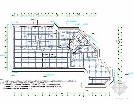 [浙江]土钉墙结合排桩深基坑支护施工图(附基坑计算书)
