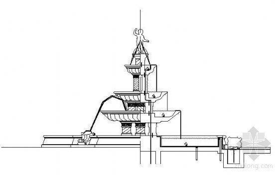 欧式喷泉平面图设计资料下载-欧式喷泉详图