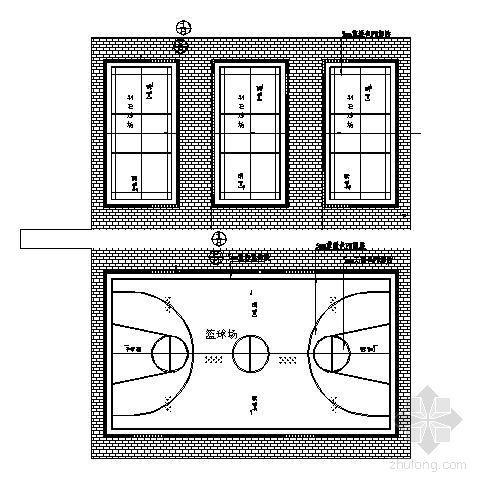 [划线]工程篮球场分享标准资料下载图纸v工程图纸题图片