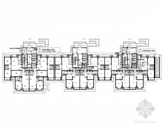 [北京]10栋高层回迁安置住宅楼及配套强弱电施工图200余张(包含商业 文体活动站 社区卫生服务站等)
