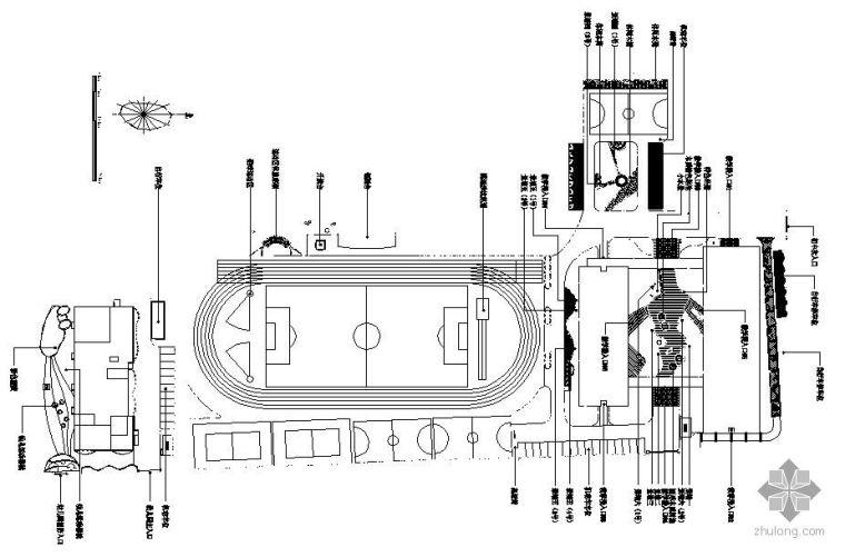 某中学运动场景观设计总平面图