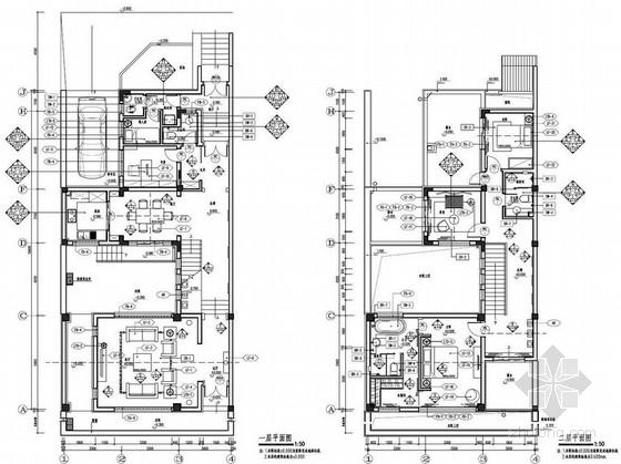 [山东]清新经典新中式A型两层别墅样板房装修设计方案图