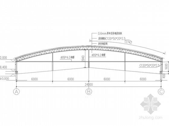 电影院屋面网架结构方案图