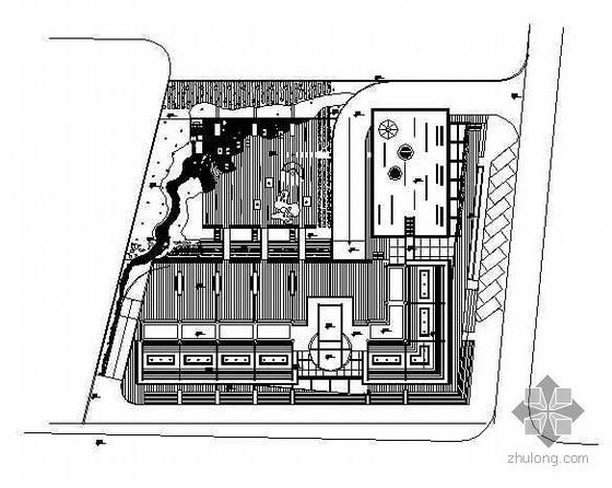 某国家机关庭院设计全套景观施工图