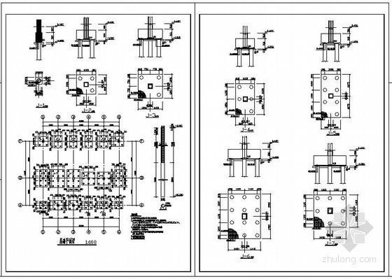 某框架停车厂游客接待中心结构设计图