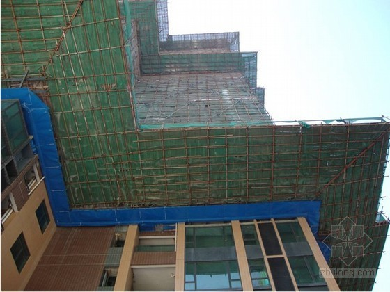 [广东]产业园外墙脚手架施工方案(工字钢悬挑脚手架、钢管落地脚手架)