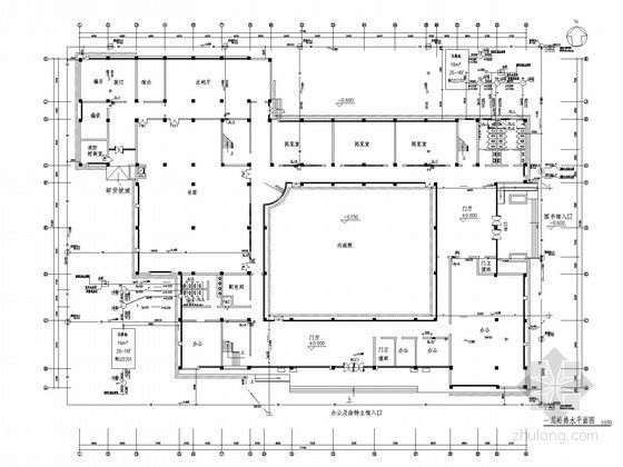 [湖南]五层图书馆给排水施工图纸