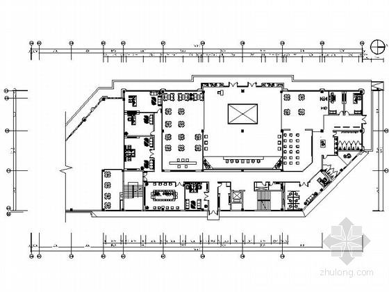 [安徽]时尚售楼处室内设计装饰CAD施工图(含效果)