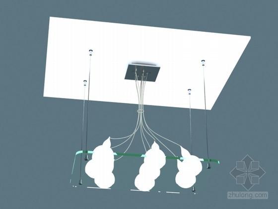 精致吊灯3D模型下载