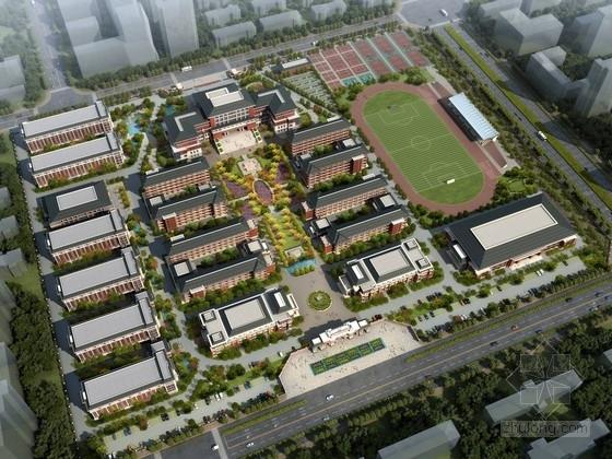 [安徽]新中式风格中学校园规划设计方案文本