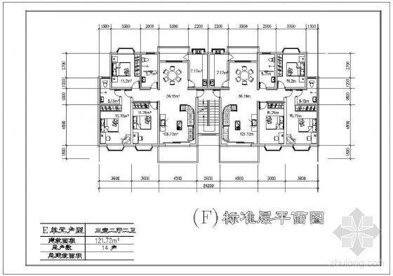 八种板式住宅户型平面建筑方案