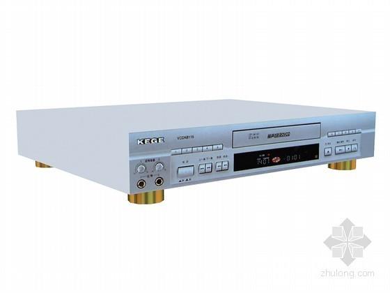 VCD播放器3D模型资料下载-老式DVD播放器3D模型下载