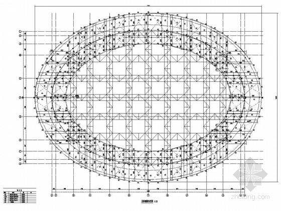 全民健身中心管桁架屋面结构施工图