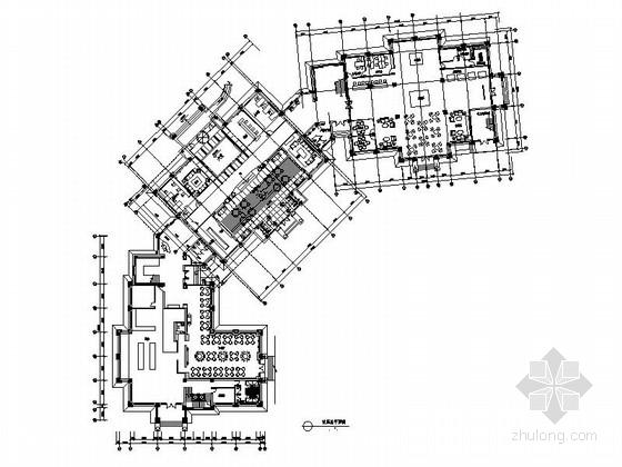 [苏州]典雅奢华高级双层会所室内施工图(含效果图)