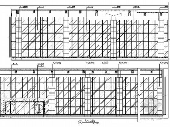[深圳]高端商务核心区现代科技大厦室内装修图(含效果)大堂立面图