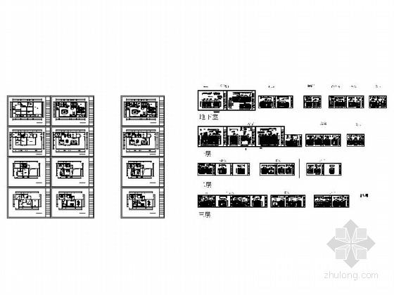 [郑州]北环商圈区典雅新中式三层别墅装修施工图资料图纸总缩略图