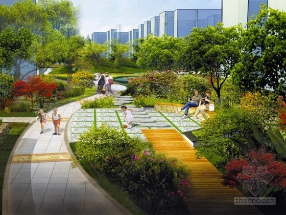 [浙江]现代韵味住宅小区景观方案设计