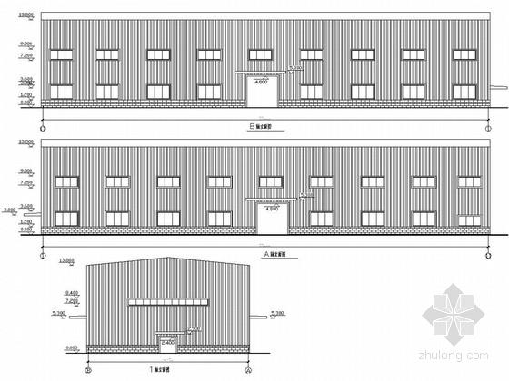 带32吨和20吨行车钢结构厂房结构图