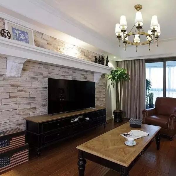 时尚客厅装修,现代简约风格客厅电视机柜效果图_4