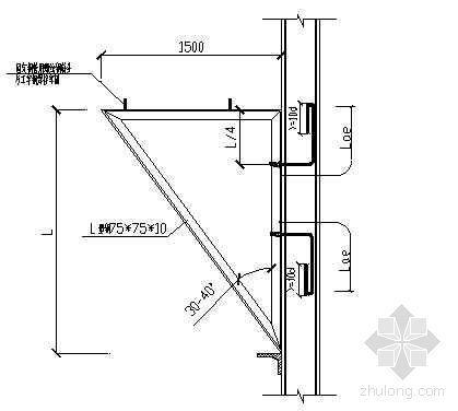 工字钢悬挑外脚手架的施工应用(实例分析)