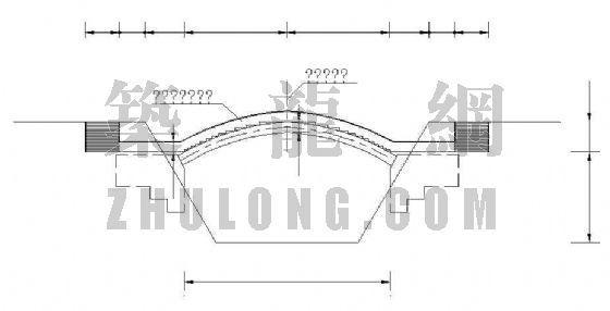 公路上跨拱桥设计方案图