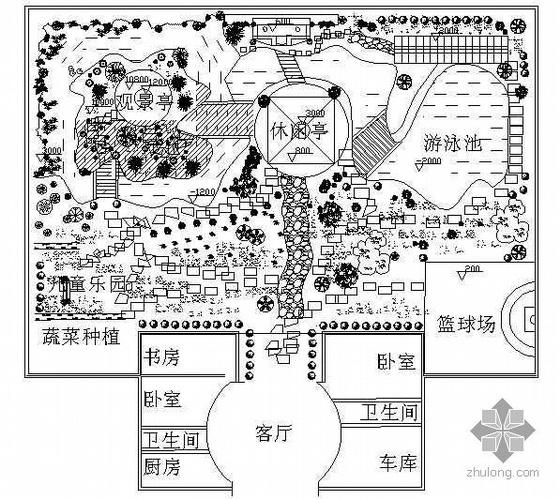 某古典庭院园林设计平面图