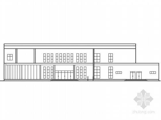 某二层食堂、多功能厅建筑扩初图