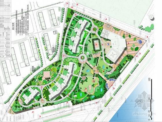 居住区中心花园景观方案