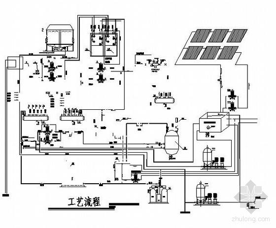 某中央空调机房工艺流程图