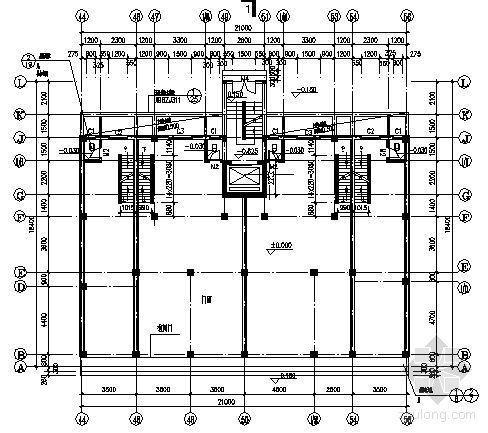 某九层商住楼建筑方案图-3