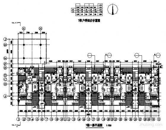 东部花园洋房7栋住宅楼建筑施工图-2